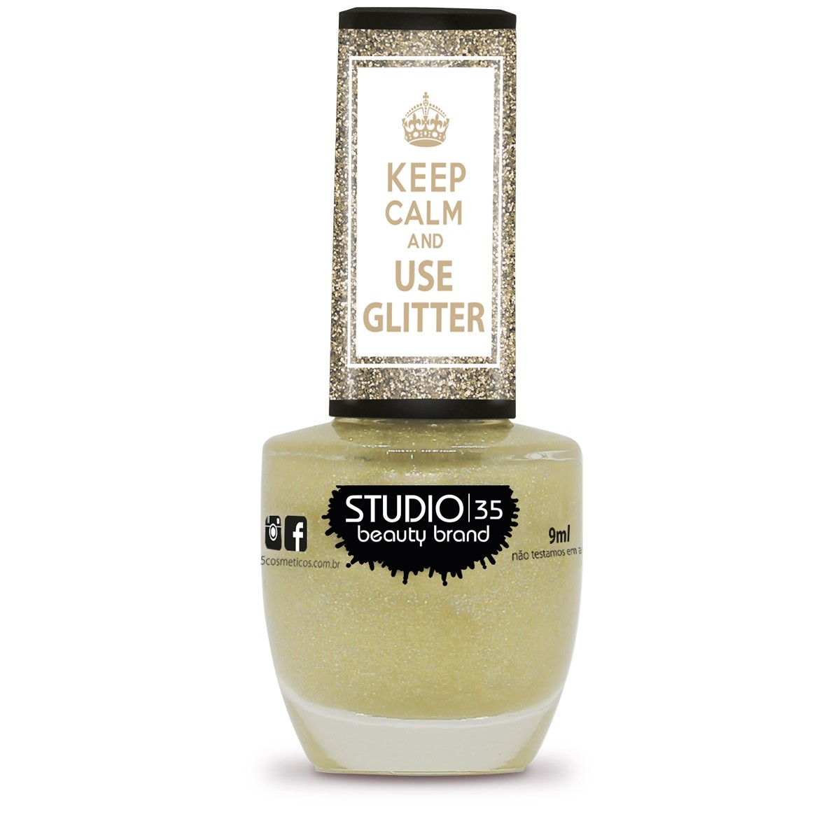 Esmalte Studio 35 #AmoChampanhe Coleção Use Glitter
