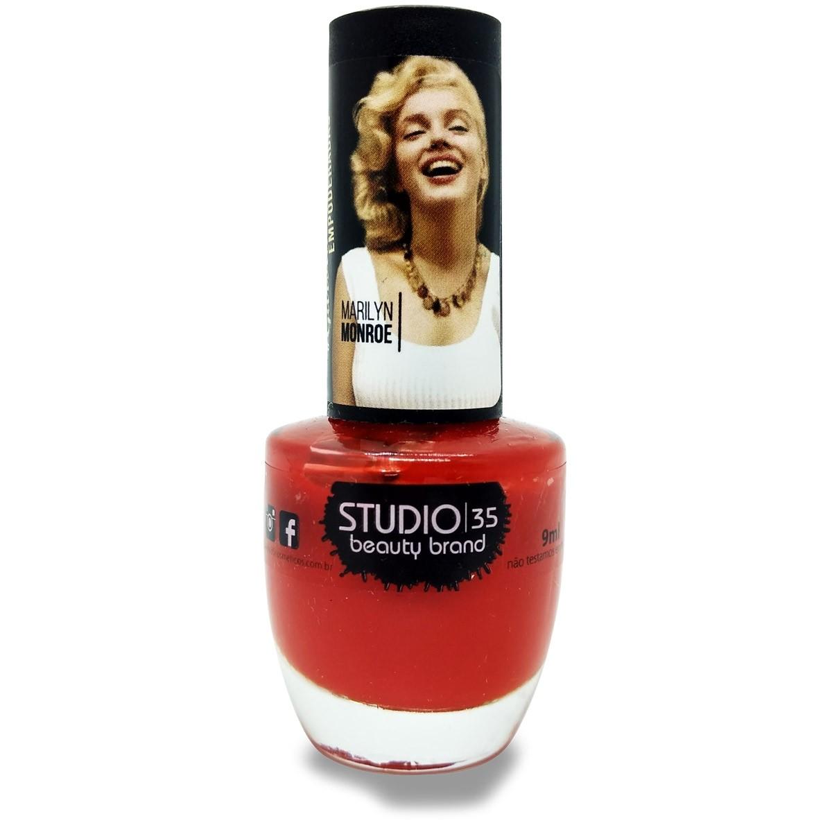 Esmalte Studio 35 #CarpeDiem Coleção Marilyn Monroe