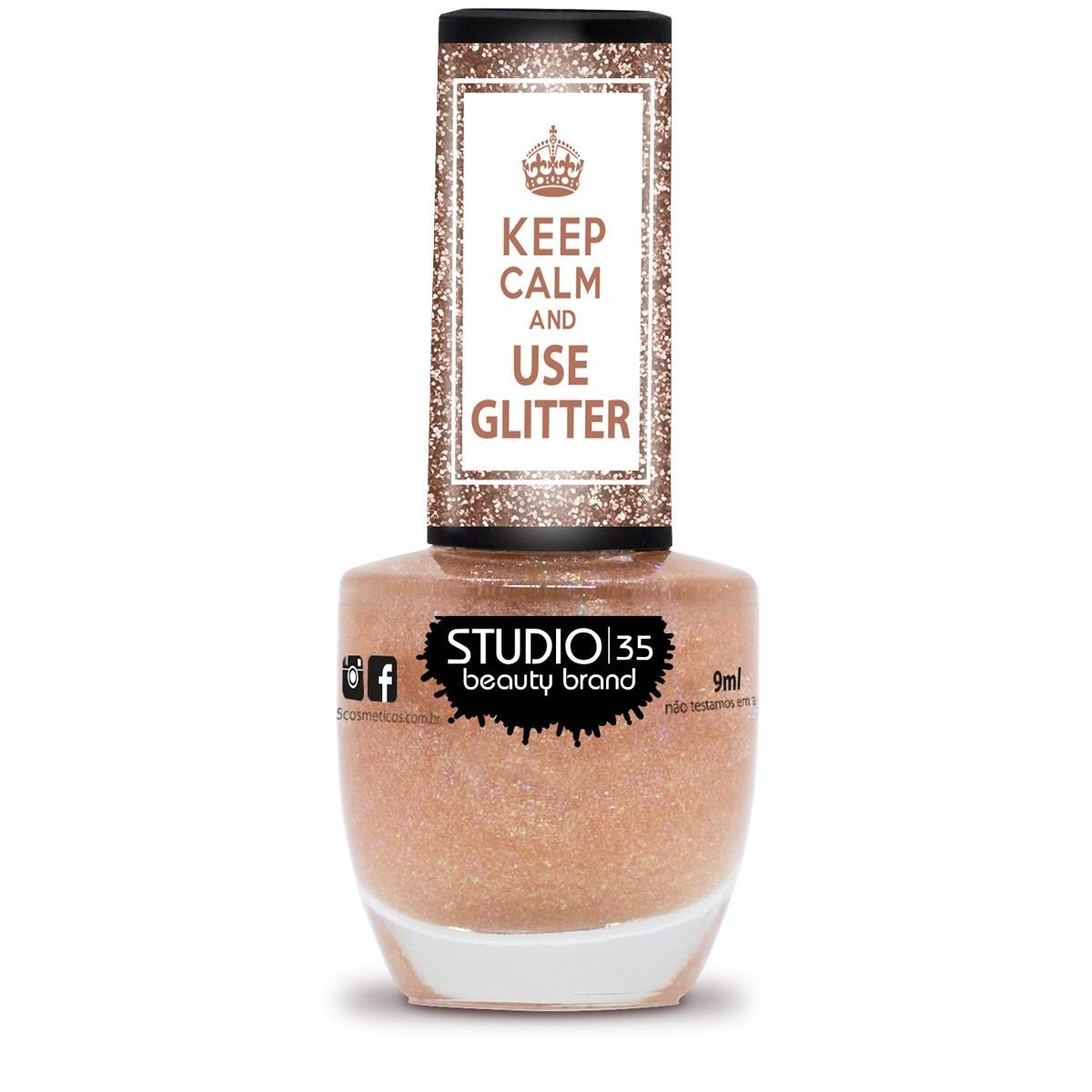 Esmalte Studio 35 #CoisaLinda Coleção Use Glitter