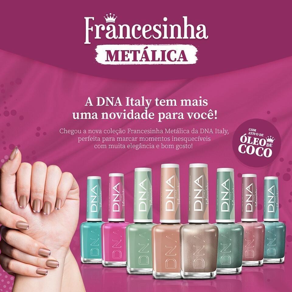 Esmaltes Coleção Francesinha Metálica DNA Italy