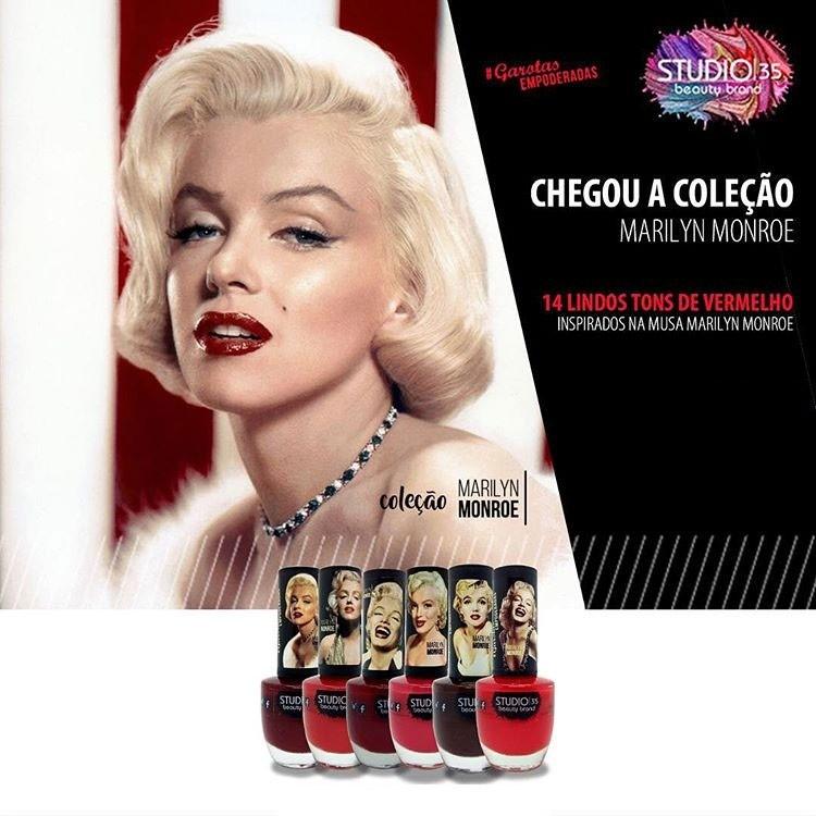 Esmaltes Coleção Marilyn Monroe Studio 35