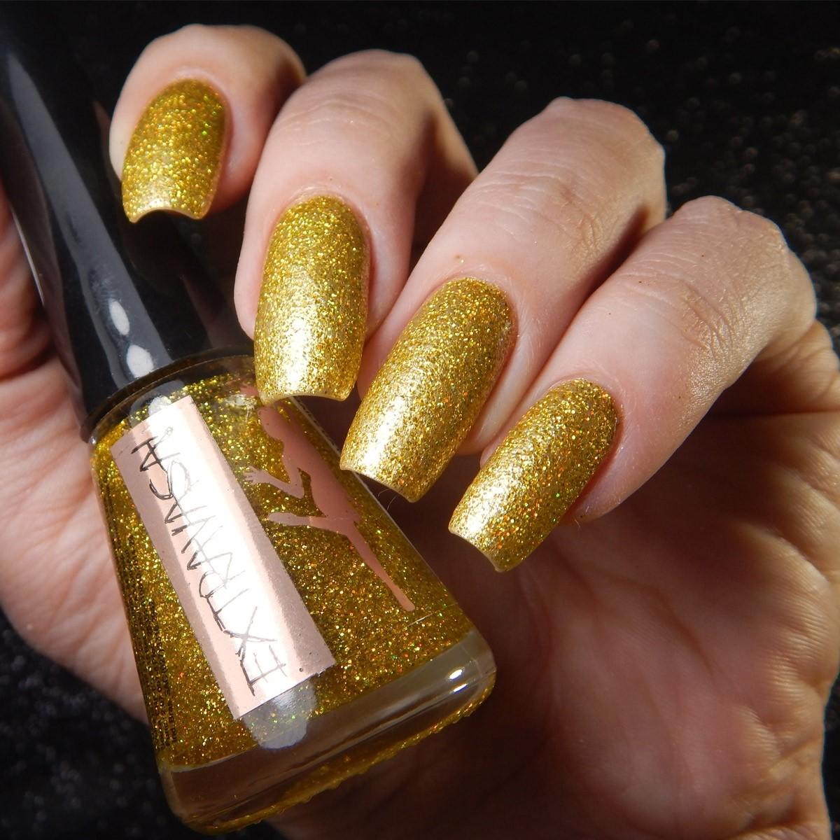 Esmalte Extravasa Glitter Dourado