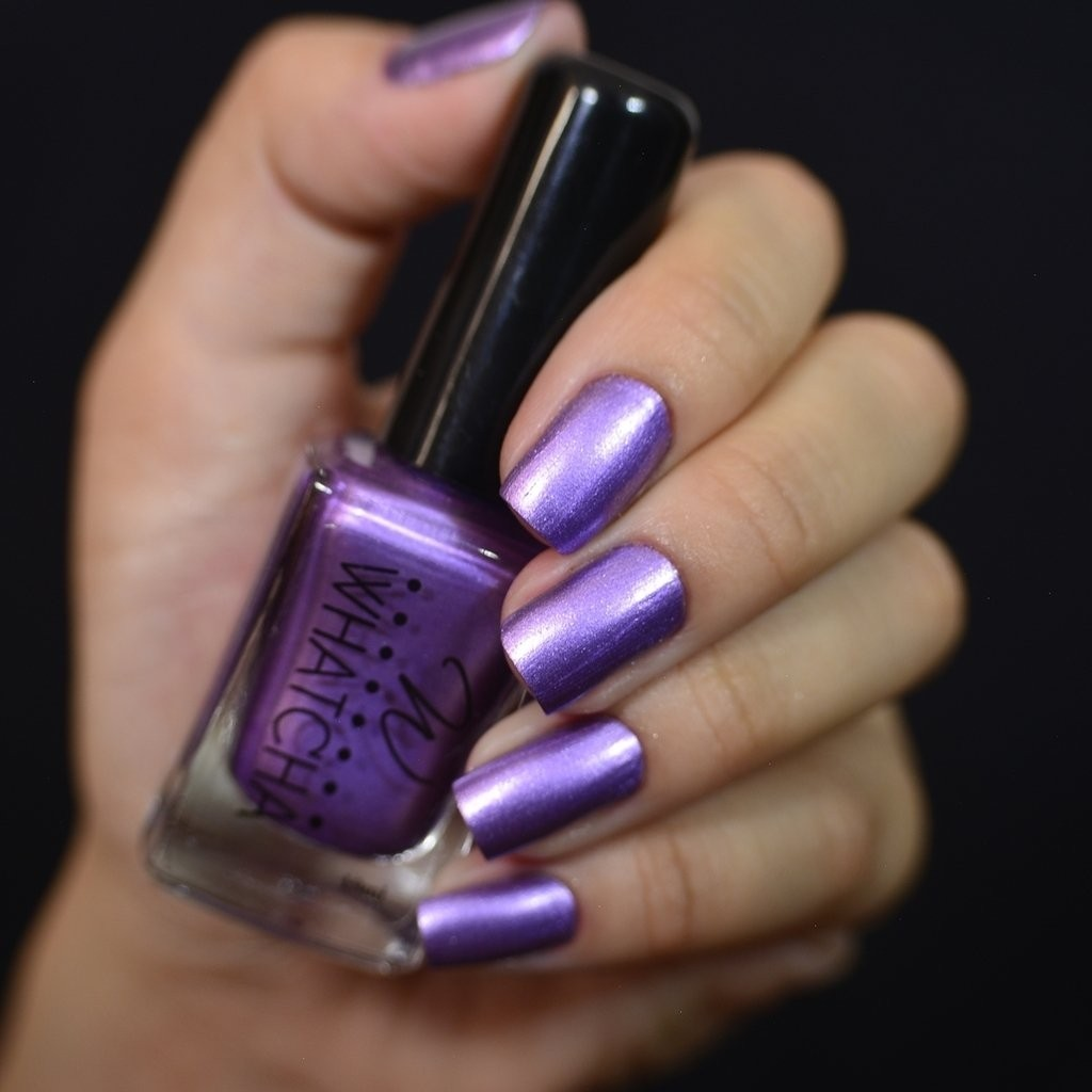Esmalte Whatcha para Carimbo Grape Satin