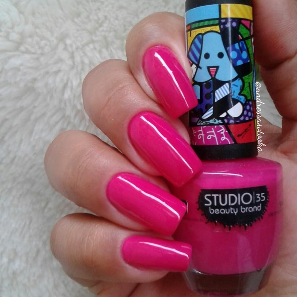 Esmalte Studio 35 #MelhorAmigo Coleção Romero Britto