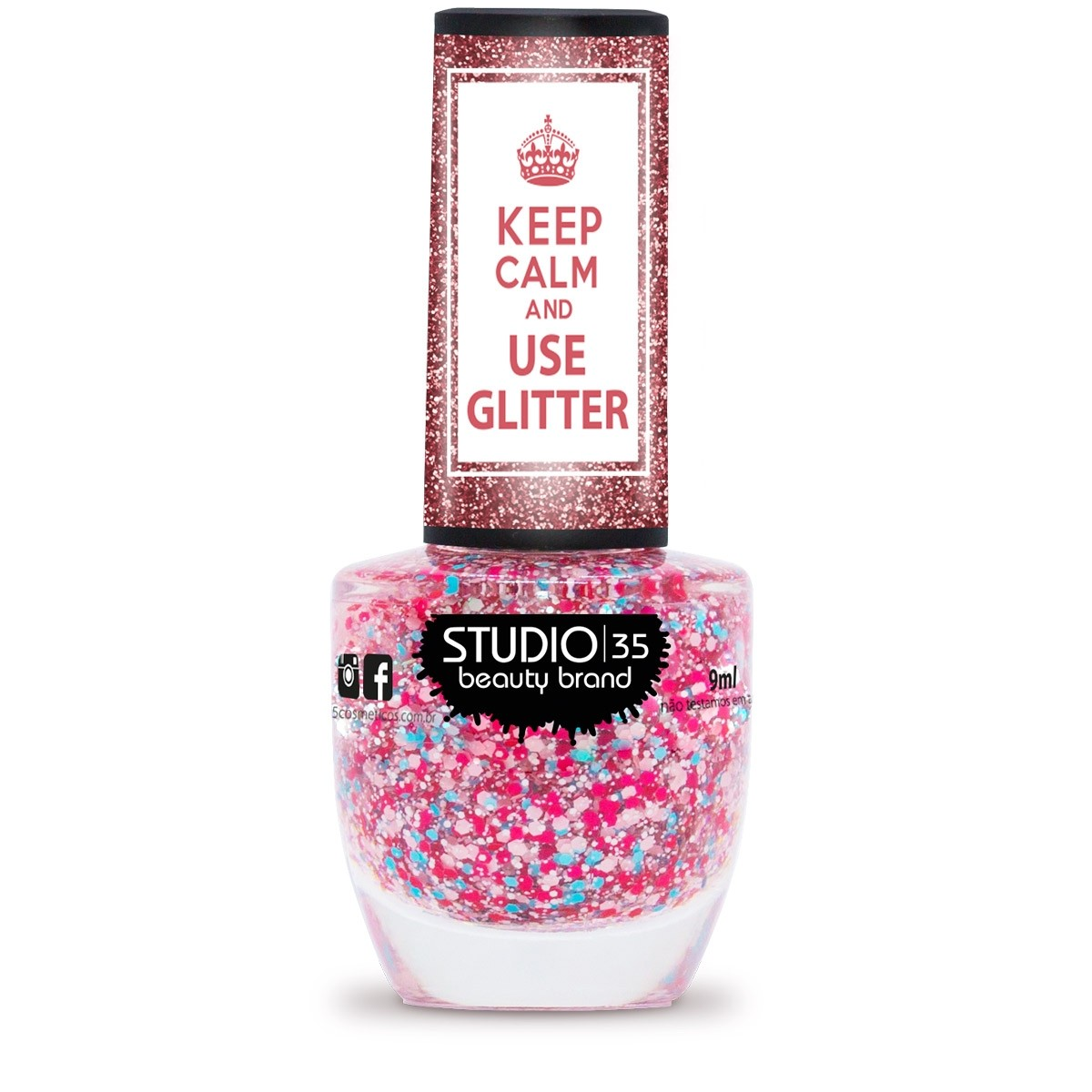 Esmalte Studio 35 #NinguemTemEsse Coleção Use Glitter