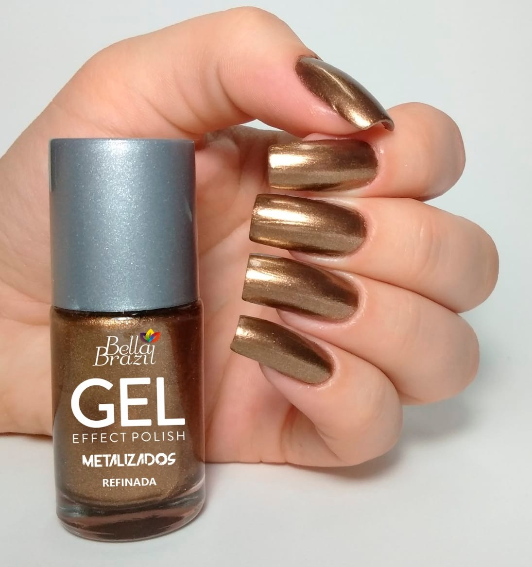 Esmalte Bella Brazil Gel Effect Refinada Metálico