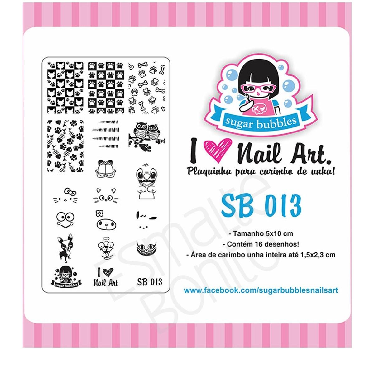 Placa para Carimbo Sugar Bubbles 013