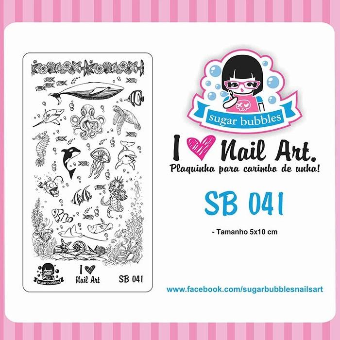 Placa para Carimbo Sugar Bubbles 041