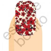 Adesivo de Unha Florzinhas Vermelhas