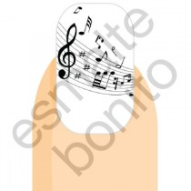 Adesivo de Unha Notas Musicais 2
