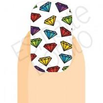 Adesivo de Unha Diamantes Coloridos