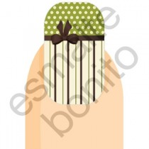 Adesivo de Unha Poás com Laço e Listras