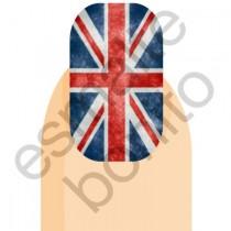 Adesivo de Unha Bandeira da Inglaterra (Reino Unido)