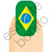 Adesivo de Unha Bandeira do Brasil