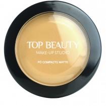 Pó Compacto Matte Bege Escuro 04 Top Beauty 10g