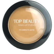 Pó Compacto Matte Marrom Claro 05 Top Beauty 10g