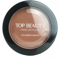 Pó Compacto Matte Marrom 06 Top Beauty 10g