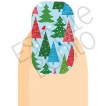 Adesivo de Unha Árvores de Natal
