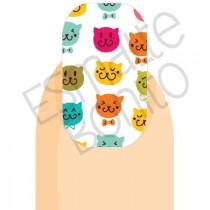 Adesivo de Unha Gatinhos