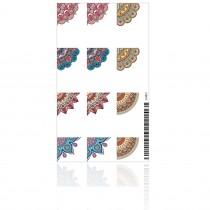 Adesivo de Unha Mandalas Coloridas 3