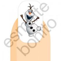 Adesivo de Unha Olaf - Frozen