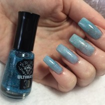 Esmalte Top Beauty Aurora Boreal Ultimate 3D