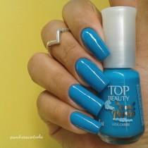 Esmalte Top Beauty Azul Caribe Coleção Na Onda do Verão