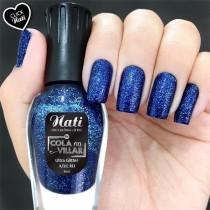 Esmalte Nati Azul Rei Ultra Glitter 5free