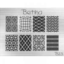 Placa para Carimbo Betina B23