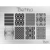 Placa para Carimbo Betina B24