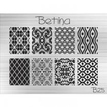 Placa para Carimbo Betina B25