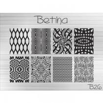 Placa para Carimbo Betina B26