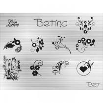 Placa para Carimbo Betina B27
