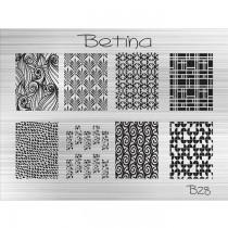 Placa para Carimbo Betina B28