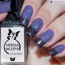 Esmalte Vanessa Molina Black Out Top Coat Térmico 5free