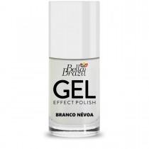Esmalte Bella Brazil Gel Effect Branco Névoa