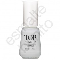 Esmalte Top Beauty Branco Real Cremoso 9ml
