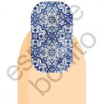 Adesivo de Unhas Azulejo Português