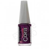 Esmalte Cora Fuchsia 15 Glitter