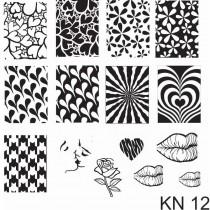 Placa para Carimbo Kelly Negri KN 12