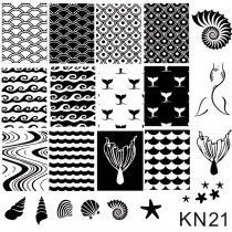 Placa para Carimbo Kelly Negri KN 21