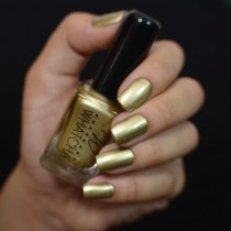 Esmalte Whatcha para Carimbo Light Gold Satin