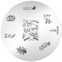 Placa para Carimbo Konad M103
