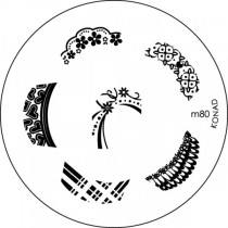 Placa para Carimbo Konad M80