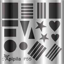 Placa para Carimbo Apipila P55
