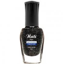 Esmalte Nati Pérola Negra Glitter 5free