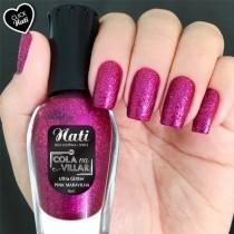 Esmalte Nati Pink Maravilha Ultra Glitter 5free