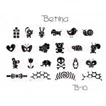 Placa para Carimbo Betina B10