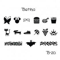 Placa para Carimbo Betina B20