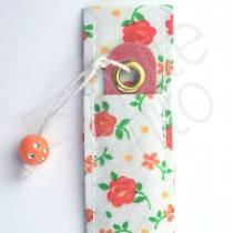 Porta Lixa Floral Laranja